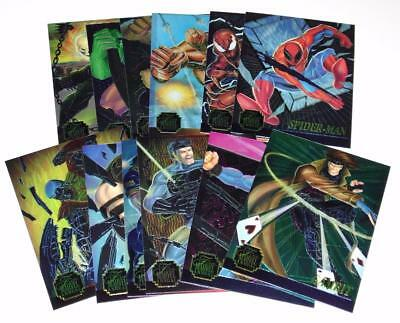 1995 FLAIR MARVEL ANNUAL CHROMIUM Complete Set #1-12 LTD Trading Cards NEAR MINT