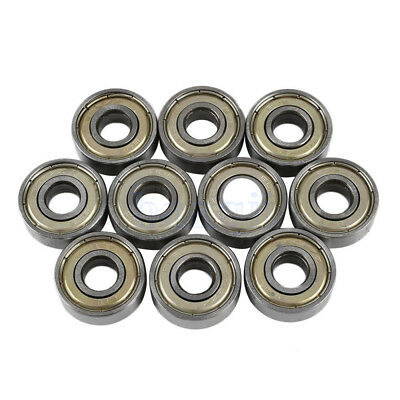 10Pcs Carbon Steel 608zz Deep Groove Ball Bearing For Skateboard Roller Blade FA