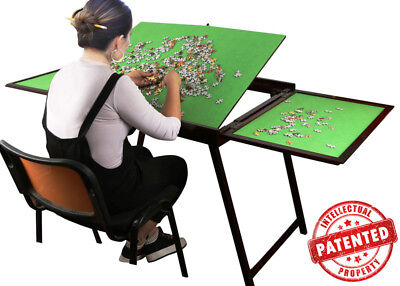 Jigsaw Puzzle Table Storage Folding Tilting Table 1500 pcs mat PTT Playing Table