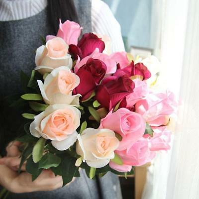 1PC Artificial Fake Flower Bridal Bouquet Wedding Party Long Roses Home Decor