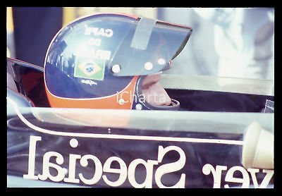 35mm vintage slide* 1973 FORMULA 1 - Emerson FITTIPALDI su LOTUS