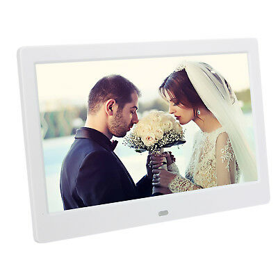 """2018 Silver 8"""" Digital Photo Frame Metal Frame LED Picture Video Player + Remote"""