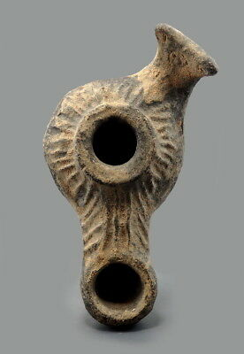 Hellenistic Period Terracotta Oil Lamp In The Form Of A Fish (L773)