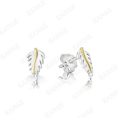 daa34df53e2a8 SOLID 10K WHITE Gold Leaf Style Stud Earrings