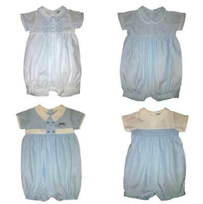 New Baby Boys Traditional Romper + Hat Outfit Set Newborn 0-3 Months