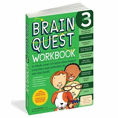 Brain Quest Grade 3 Workbook [With Stickers] - Paperback NEW Meyer, Janet A. 200