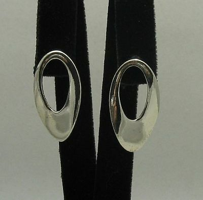 Stylish genuine sterling silver earrings hallmarked solid 925 nickel free