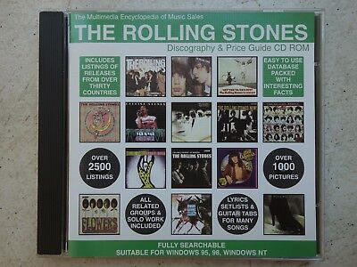 ROLLING STONES  Discography & Price Guide Multimedia Encylopedia CDr  solo group