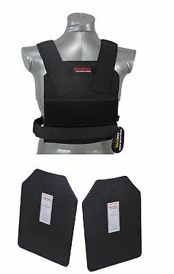 Tactical Scorpion Body Armor Bobcat Concealable Carrier + Level IIIA Hard Plates