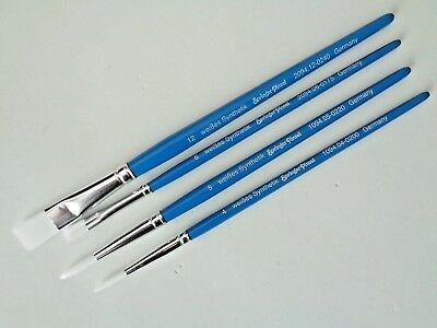 Springer Pinsel S-1294, 4er Set, Aquarell-Set, Größen: rund: 4 + 5, flach: 6+ 12