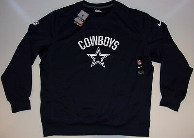 reputable site 3f5af 26759 NEW DALLAS COWBOYS Nike On Field Therma-Fit Performance Crewneck Sweatshirt  NWT