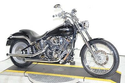 2001 Harley-Davidson Softail  2001 Black Harley Davidson Softail Deuce FXSTD Many Extras Chrome S&S Carb Pipes