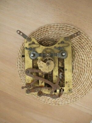 Vintage brass Pendulum clock mechanism