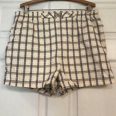 Vintage 80's Jantzen Plaid Swim Trunks Shorts Made in USA Men's 40 New