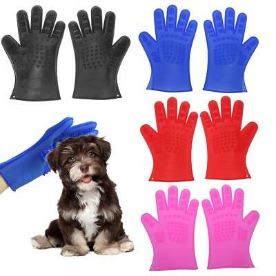 Silicone Pet Dog Cat Bath Comb Brush Grooming Hair Remover Massage Glove Groomer