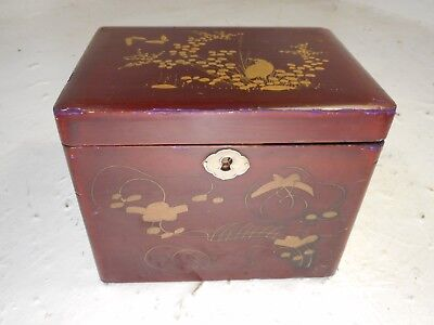 Antique Lacquered Tea Caddy   REF 4193