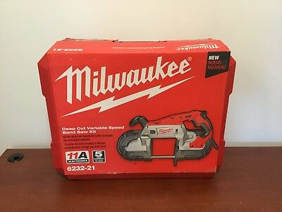 Milwaukee 6232-21 Deep Cut Variable Speed Band Saw Kit - Brand New!!