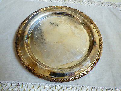 "Oneida USA Silver Plated 10.25"" Serving Tray round platter"