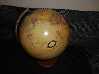 Old Vtg CRAM'S ANTIQUE WORLD GLOBE ILLUMINATED Russia Vietnam Pakistan Namibia