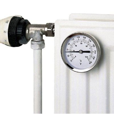 Magnetic Radiator Thermometer - Stainless Steel - Log Woodburner Flue Stove Pipe