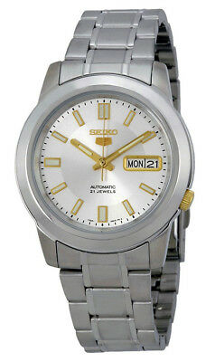 Seiko 5 SNKK09 Men's Stainless Steel Silver Dial Lumbrite Index Automatic Watch