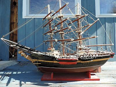 Antique Boat Model 1864 Tall Ship Handcrafted Maritime Nautical
