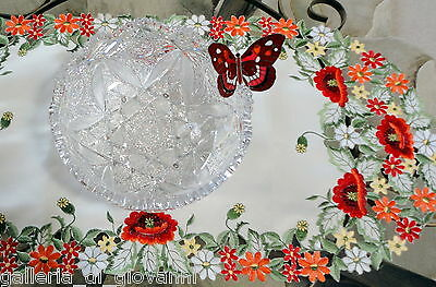 """Dresser Scarf  WILDFLOWERS  Lace Table  Runner  Doily 43""""x 15"""" Red Poppy Poppies"""
