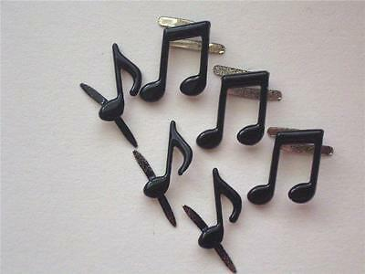 BRADS MUSIC NOTES pk of 6 concert musical band scrapbooking craft split pin