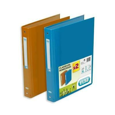 2 classeurs Color life - A4+ Orange/ bleu