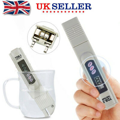 Digital TDS 3 Water Quality Tester Purity Meter TEMP PPM Tests Filter Pen Sticks