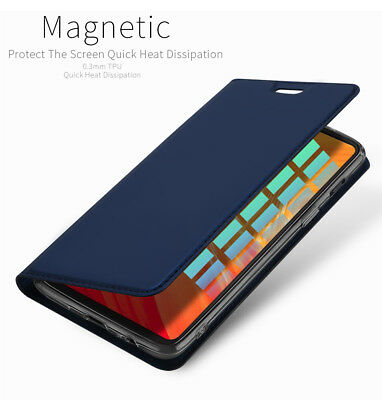DUX DUCIS For OnePlus 6 PU Leather Flip Case Wake UP/Sleep Wallet Magnetic Cover