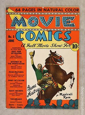 Movie Comics (National) #3 1939 GD+ 2.5 RESTORED