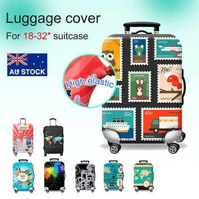 18-32'' Elastic Luggage Travel Trolley Case Cover Suitcase Protector Case Bag AU