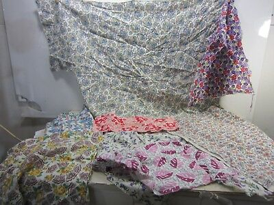 Vintage Lot of Feed Sack Fabric Sections for Quilting & Projects  FS#43