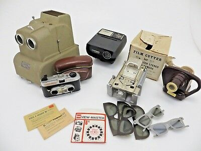 View Master LOT Stereo Color Camera 2678 3x Projector Film Cutter Zubehör jc036