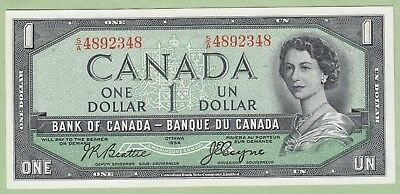 1954 Bank of Canada One Dollar Note - Beattie/Coyne - S/A4892348 - UNC