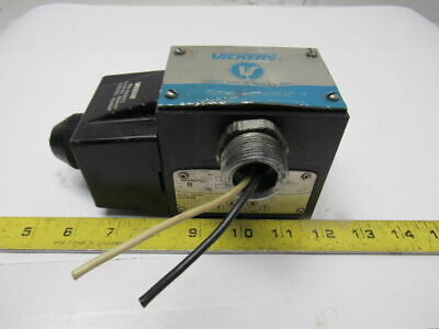 Vickers DG4S4018C50 Single Solenoid Operated Directional Valve 110V Coil