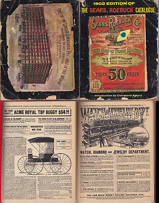 Acceptable 1902 Sears Catalog #111 Reprinted 1969 See Scans 2126