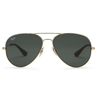 Ray-Ban RB3558 Aviator Sunglasses (Gold/Green Classic)