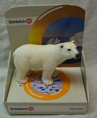 "Schleich POLAR BEAR 4"" PLASTIC FIGURINE FIGURE TOY NEW"