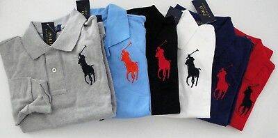 NWT Ralph Lauren Toddler Boys L/S Big Pony Solid Mesh Polo Shirt 2t 3t 4t NEW