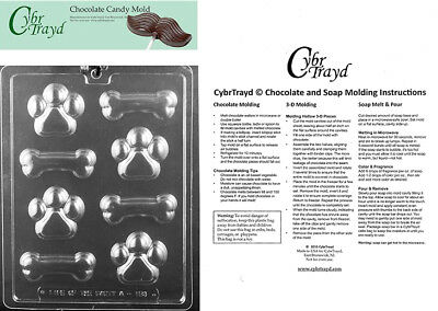 BONES DIFFERENT SIZE CLEAR PLASTIC CHOCOLATE CANDY MOLD H127