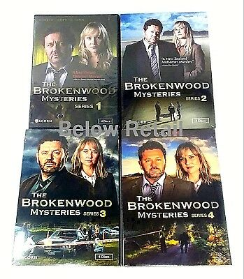 The Brokenwood Mysteries: Complete Series Seasons 1-4! (DVD Set) 4th four New!