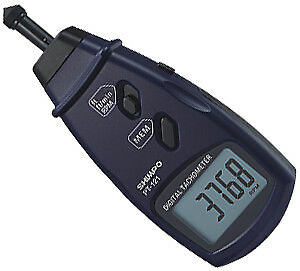 Shimpo PT-121 Tachometers - Detection Type: Contact, Display (Tachometer): LCD
