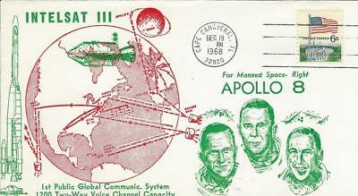1968 INTELSAT III Launch for Apollo 8 Mission Cape Canaveral 19 December Orbit