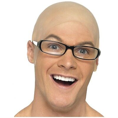 Bald Head Cap Adult Costume Accessory Fancy Dress