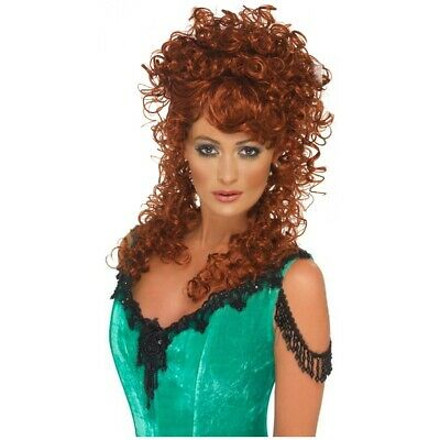 Miss West Wig Saloon Girl Wild Fancy Dress Halloween Costume Accessory 4 COLORS