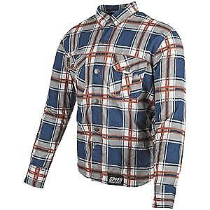 Speed & Strength Rust and Redemption Mens Armored Long Sleeve Shirt Blue/Orange