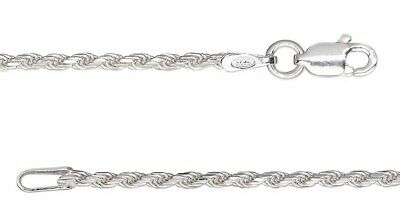 """24"""" Sterling Silver Diamond Cut French Rope Chain Necklace"""