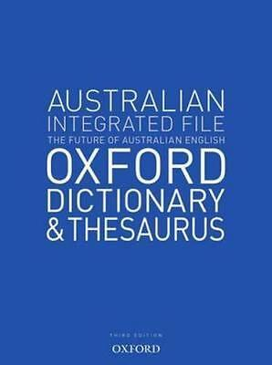NEW Australian Integrated School File Oxford Dictionary & Thesaurus By Oxford Di